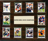 "NFL 15""x18"" New England Patriots Super Bowl 38 - 10-Card Plaque"