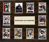 "NFL 15""x18"" New England Patriots Super Bowl 49 - 10-Card Plaque"