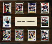 "NFL 15""x18"" New England Patriots Super Bowl 51 - 10-Card Plaque"