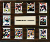 "NFL 15""x18"" New England Patriots Super Bowl 53 - 10-Card Plaque"