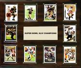 """NFL 15""""x18"""" New Orleans Saints Super Bowl 44 - 10-Card Plaque"""