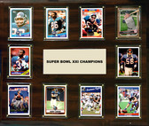 "NFL 15""x18"" New York Giants Super Bowl 21 - 10-Card Plaque"