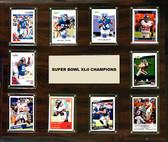 "NFL 15""x18"" New York Giants Super Bowl 42 - 10-Card Plaque"