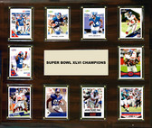 "NFL 15""x18"" New York Giants Super Bowl 46 - 10-Card Plaque"