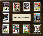 "NFL 15""x18"" Philadelphia Eagles Super Bowl 52 - 10-Card Plaque"