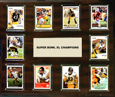 "NFL 15""x18"" Pittsburgh Steelers Super Bowl 40 - 10-Card Plaque"