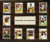 "NFL 15""x18"" Pittsburgh Steelers Super Bowl 43 - 10-Card Plaque"
