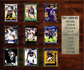 "NFL 15""x18"" Ray Lewis Baltimore Ravens Career Stat Plaque"