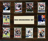 "NFL 15""x18"" Rob Gronkowski New England Patriots Player Plaque"