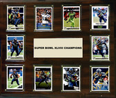 """NFL 15""""x18"""" Seattle Seahawks Super Bowl 48 - 10-Card Plaque"""