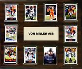 """NFL 15""""x18"""" Von Miller Denver Broncos Player Plaque"""