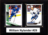 "NHL 6""x8"" William Nylander Toronto Maple Leafs Two Card Plaque"