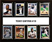 """MLB 12""""x15"""" Tony Gwynn San Diego Padres 8 Card Plaque"""