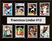 "MLB 12""x15"" Francisco Lindor Cleveland Indians 8 Card Plaque"