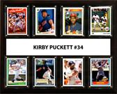 """MLB 12""""x15"""" Kirby Puckett Minnesota Twins 8 Card Plaque"""