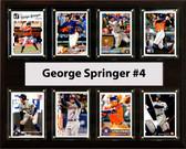 "MLB 12""x15"" George Springer Houston Astros 8 Card Plaque"