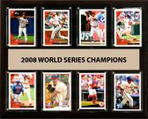 "MLB 12""x15"" Philadelphia Phillies 2008 World Series - 8-Card Plaque"
