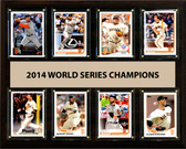 "MLB 12""x15"" San Francisco Giants 2014 World Series - 8-Card Plaque"