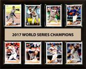 "MLB 12""x15"" Houston Astros 2017 World Series - 8-Card Plaque"