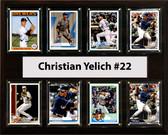 "MLB 12""x15"" Christian Yelich Milwaukee Brewers 8 Card Plaque"