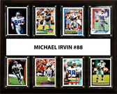 "NFL 12""x15"" Michael Irvin Dallas Cowboys 8 Card Plaque"