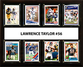 """NFL 12""""x15"""" Lawrence Taylor New York Giants 8 Card Plaque"""