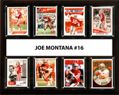 "NFL 12""x15"" Joe Montana San Francisco 49ers 8 Card Plaque"
