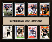 "NFL 12""x15"" Chicago Bears Super Bowl 20 - 8-Card Plaque"