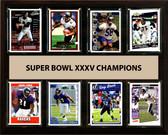 """NFL 12""""x15"""" Baltimore Ravens Super Bowl 35 - 8-Card Plaque"""