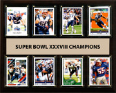 "NFL 12""x15"" New England Patriots Super Bowl 38 - 8-Card Plaque"