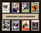 "NFL 12""x15"" New England Patriots Super Bowl 39 - 8-Card Plaque"