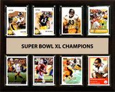 "NFL 12""x15"" Pittsburgh Steelers Super Bowl 40 - 8-Card Plaque"