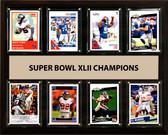 "NFL 12""x15"" New York Giants Super Bowl 42 - 8-Card Plaque"