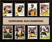 "NFL 12""x15"" Pittsburgh Steelers Super Bowl 43 - 8-Card Plaque"