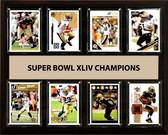 """NFL 12""""x15"""" New Orleans Saints Super Bowl 44 - 8-Card Plaque"""