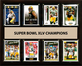 "NFL 12""x15"" Green Bay Packers Super Bowl 45 - 8-Card Plaque"