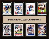 "NFL 12""x15"" New York Giants Super Bowl 46 - 8-Card Plaque"