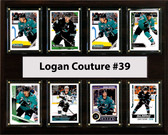 "NHL 12""x15"" Logan Couture San Jose Sharks 8 Card Plaque"