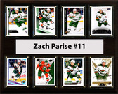 "NHL 12""x15"" Zach Parise Minnesota Wild 8 Card Plaque"