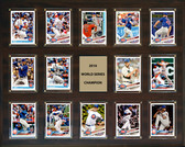"""MLB 16""""x20"""" Chicago Cubs 2016 World Series - 14-Card Plaque"""