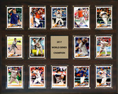 "MLB 16""x20"" Houston Astros 2017 World Series - 14-Card Plaque"