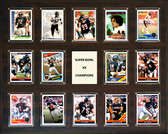 "NFL 16""x20"" Chicago Bears Super Bowl 20 - 14-Card Plaque"