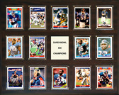 "NFL 16""x20"" New York Giants Super Bowl 21 - 14-Card Plaque"