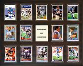 "NFL 16""x20"" New York Giants Super Bowl 25 - 14-Card Plaque"