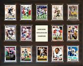 """NFL 16""""x20"""" Baltimore Ravens Super Bowl 35 - 14-Card Plaque"""