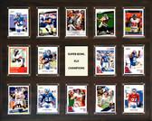 "NFL 16""x20"" New York Giants Super Bowl 42 - 14-Card Plaque"