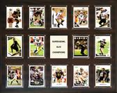 """NFL 16""""x20"""" New Orleans Saints Super Bowl 44 - 14-Card Plaque"""