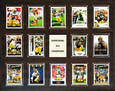 "NFL 16""x20"" Green Bay Packers Super Bowl 45 - 14-Card Plaque"