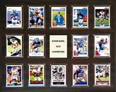 "NFL 16""x20"" New York Giants Super Bowl 46 - 14-Card Plaque"