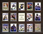 """NFL 16""""x20"""" Baltimore Ravens Super Bowl 47 - 14-Card Plaque"""